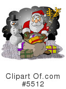 Royalty-Free (RF) Santa Clipart Illustration #5512
