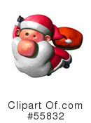 Royalty-Free (RF) Santa Clipart Illustration #55832