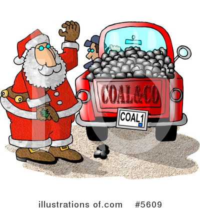 Royalty-Free (RF) Santa Clipart Illustration by Dennis Cox - Stock Sample #5609
