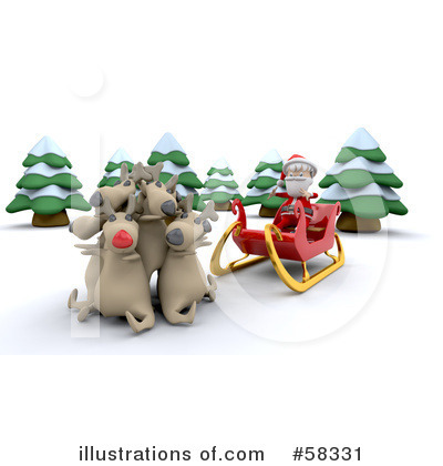 Royalty-Free (RF) Santa Clipart Illustration by KJ Pargeter - Stock Sample #58331