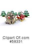 Royalty-Free (RF) Santa Clipart Illustration #58331
