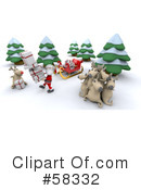 Royalty-Free (RF) Santa Clipart Illustration #58332