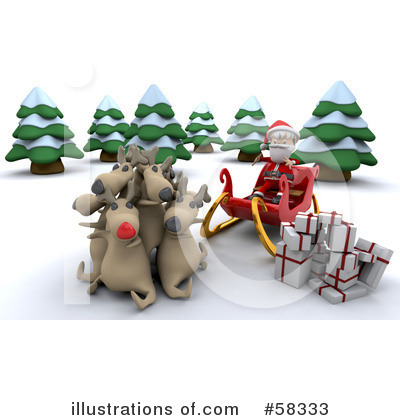 Royalty-Free (RF) Santa Clipart Illustration by KJ Pargeter - Stock Sample #58333