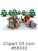 Royalty-Free (RF) Santa Clipart Illustration #58333