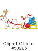 Royalty-Free (RF) Santa Clipart Illustration #59226