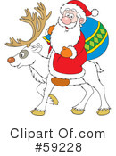 Royalty-Free (RF) Santa Clipart Illustration #59228