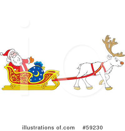 Reindeer Clipart #59230 by Alex Bannykh