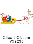 Royalty-Free (RF) Santa Clipart Illustration #59230