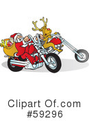 Royalty-Free (RF) Santa Clipart Illustration #59296