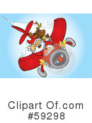 Royalty-Free (RF) Santa Clipart Illustration #59298