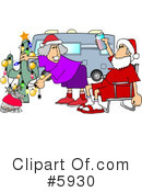 Royalty-Free (RF) Santa Clipart Illustration #5930
