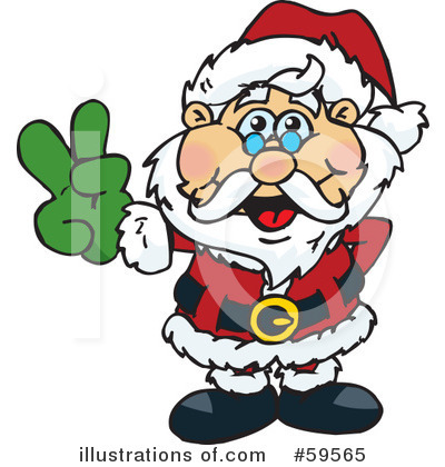 Royalty-Free (RF) Santa Clipart Illustration by Dennis Holmes Designs - Stock Sample #59565