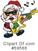 Royalty-Free (RF) Santa Clipart Illustration #59566