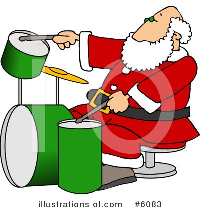 Royalty-Free (RF) Santa Clipart Illustration by djart - Stock Sample #6083