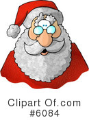 Royalty-Free (RF) Santa Clipart Illustration #6084
