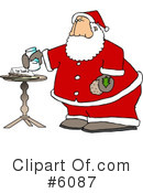 Royalty-Free (RF) Santa Clipart Illustration #6087
