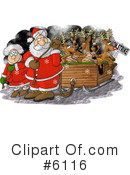 Royalty-Free (RF) santa Clipart Illustration #6116