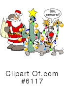 Royalty-Free (RF) santa Clipart Illustration #6117