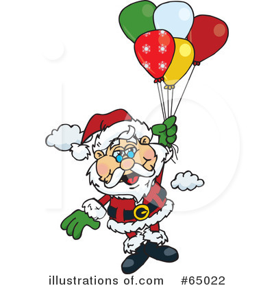 Royalty-Free (RF) Santa Clipart Illustration by Dennis Holmes Designs - Stock Sample #65022