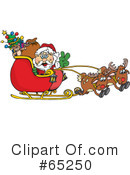 Royalty-Free (RF) Santa Clipart Illustration #65250