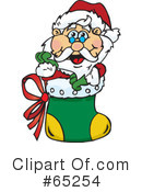 Royalty-Free (RF) Santa Clipart Illustration #65254