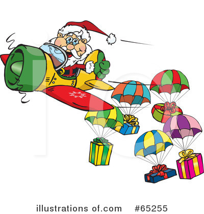 Royalty-Free (RF) Santa Clipart Illustration by Dennis Holmes Designs - Stock Sample #65255