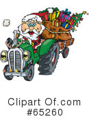 Royalty-Free (RF) Santa Clipart Illustration #65260