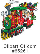 Royalty-Free (RF) Santa Clipart Illustration #65261
