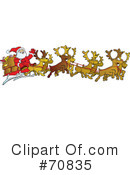Royalty-Free (RF) Santa Clipart Illustration #70835