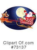 Royalty-Free (RF) Santa Clipart Illustration #73137