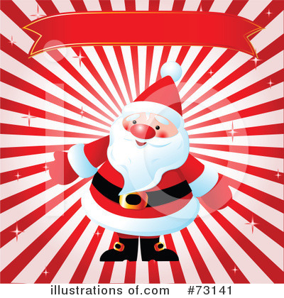 Royalty-Free (RF) Santa Clipart Illustration by Pushkin - Stock Sample #73141
