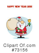 Royalty-Free (RF) santa Clipart Illustration #73156