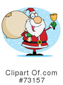 Royalty-Free (RF) santa Clipart Illustration #73157