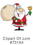 Royalty-Free (RF) santa Clipart Illustration #73164