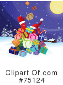 Royalty-Free (RF) Santa Clipart Illustration #75124