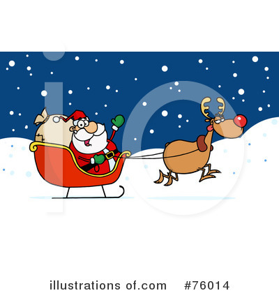 Royalty-Free (RF) Santa Clipart Illustration by Hit Toon - Stock Sample #76014