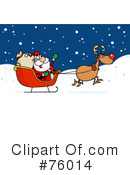 Royalty-Free (RF) Santa Clipart Illustration #76014