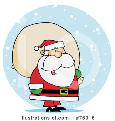 Santa Clipart #76016 by Hit Toon