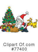 Royalty-Free (RF) Santa Clipart Illustration #77400