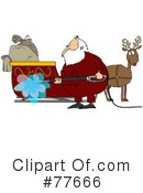 Royalty-Free (RF) Santa Clipart Illustration #77666