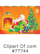 Royalty-Free (RF) santa Clipart Illustration #77744