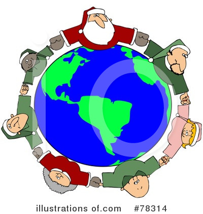 Royalty-Free (RF) Santa Clipart Illustration by Dennis Cox - Stock Sample #78314