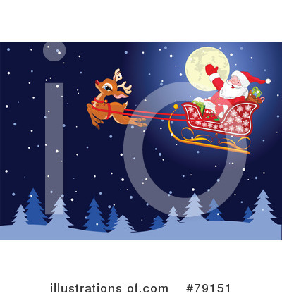 Royalty-Free (RF) Santa Clipart Illustration by Pushkin - Stock Sample #79151