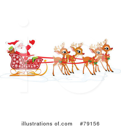 Royalty-Free (RF) Santa Clipart Illustration by Pushkin - Stock Sample #79156