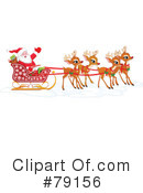 Royalty-Free (RF) Santa Clipart Illustration #79156
