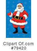 Royalty-Free (RF) santa Clipart Illustration #79420