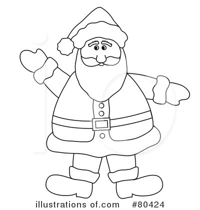 Santa Clipart #80424 by Pams Clipart