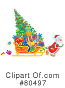 Royalty-Free (RF) Santa Clipart Illustration #80497