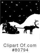 Royalty-Free (RF) Santa Clipart Illustration #80794