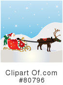 Royalty-Free (RF) Santa Clipart Illustration #80796